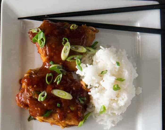 Korean Chicken Thighs In the Pressure Cooker