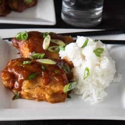 Korean Chicken Thighs In the Pressure Cooker