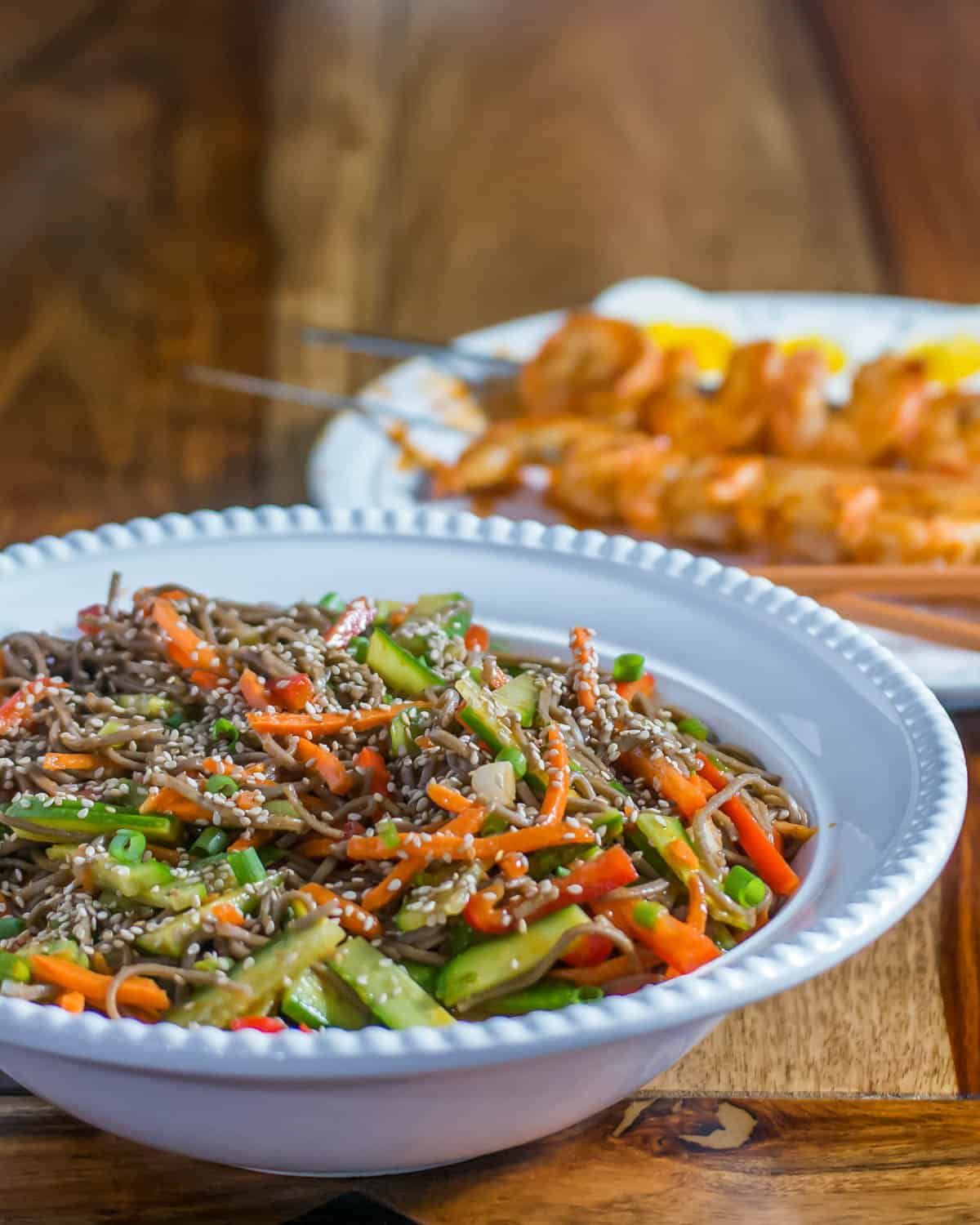 Korean-Style Buckwheat Noodle Salad / www.beyondmeresustenance.com