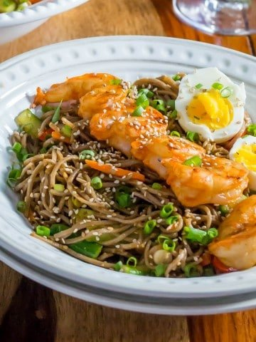 Korean-Style Buckwheat Noodle Salad