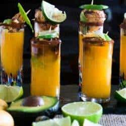 Spicy Scallop Shooters