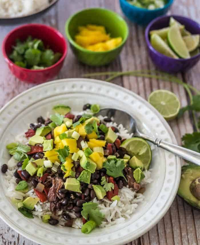 Tropical Black Beans and Rice