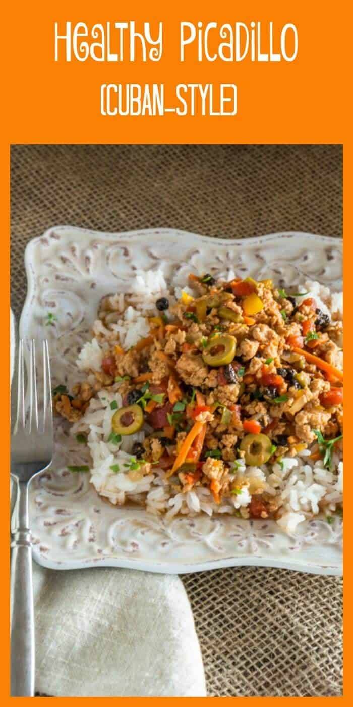 Healthy Picadillo (Cuban Style) - Sofrito, oregano, cumin, bay with healthy minced (ground) meat and veggies... Dinner in 30 minutes!