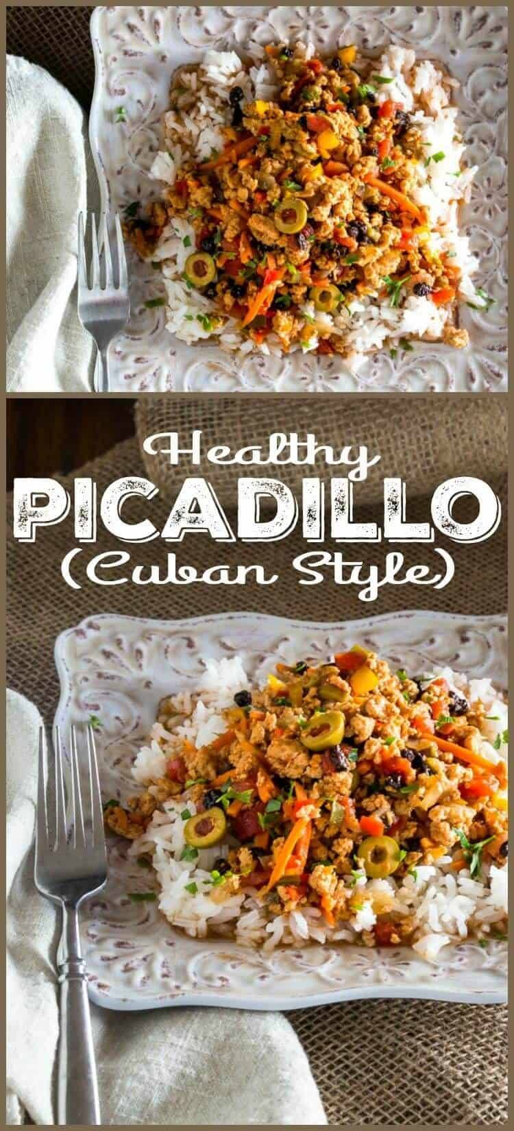 Healthy Picadillo (Cuban Style) - Sofrito, oregano, cumin, bay with healthy minced (ground) meat and veggies... Dinner in 30 minutes! healthy picadillo | Cuban picadillo | weeknight cooking
