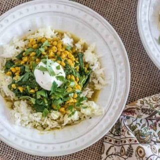 Instant Pot Chana Dal with Spinach