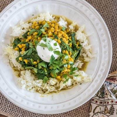 Chana Dal with Spinach