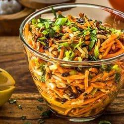 Moroccan Carrot Salad With Lemon Dressing