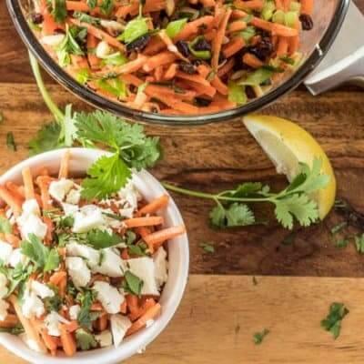 Moroccan Carrot Salad With Lemon Dressing