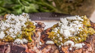 Mexican Pork Chops With Salsa Verde and Cotija