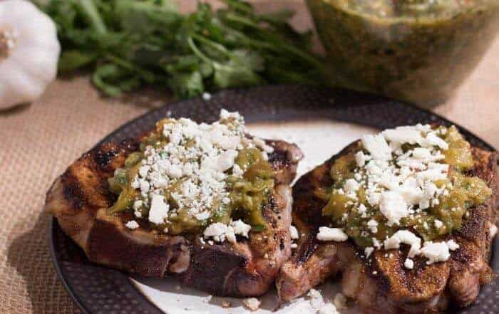 Mexican-Spiced Pork Chops With Salsa Verde and Cotija