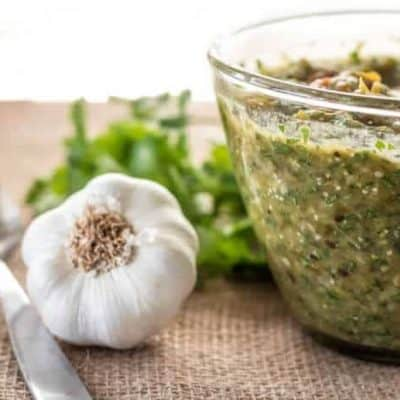 Roasted Tomatillo and Hatch Green Chile Salsa
