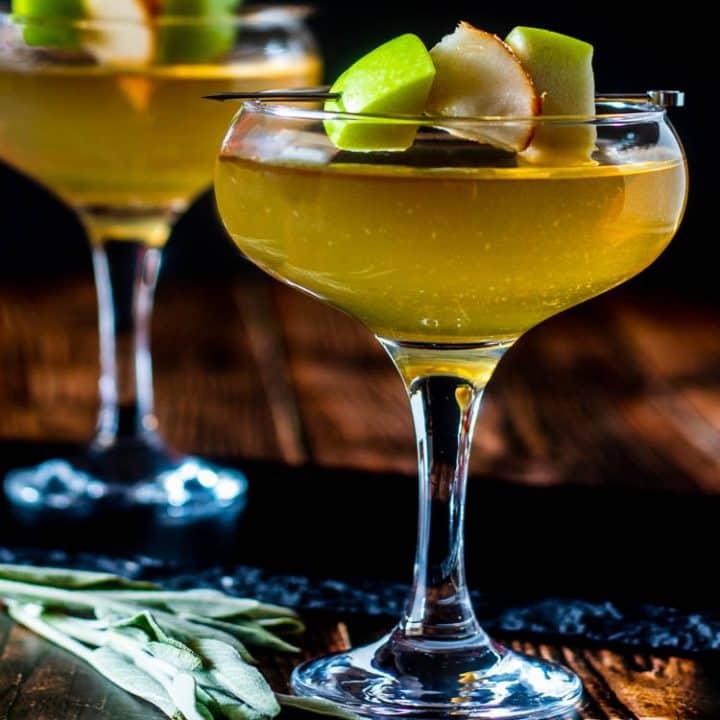Apple Pear and Sage Martini