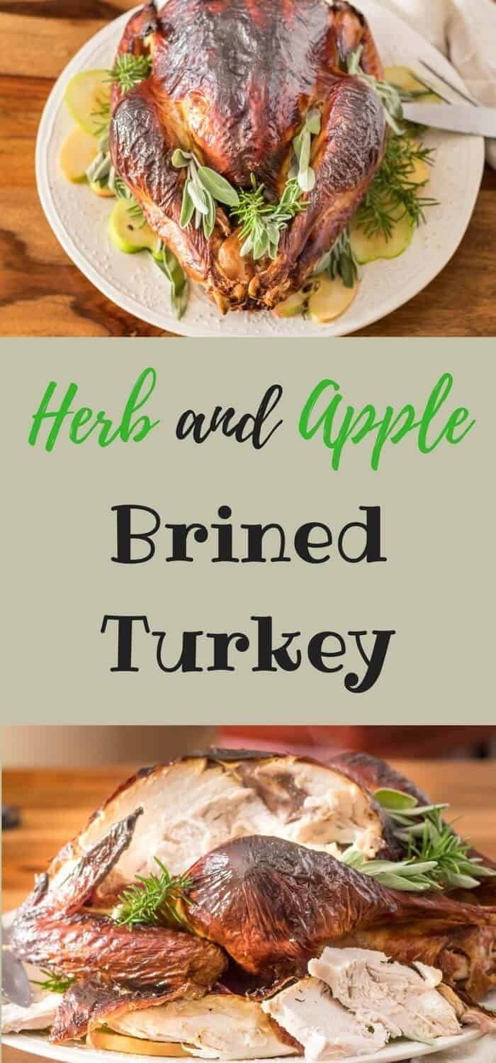 Herb and Apple Brined Turkey - Luscious fall flavors of apple, parsley, sage, rosemary, and thyme - in a flavorful brine that delivers a marvelously moist turkey!
