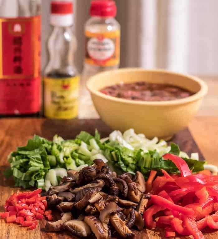 Beef and Baby Bok Choy Stir Fry With Black Rice