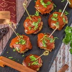 Ancho and Chocolate BBQ Sauce With Mexican Meatballs