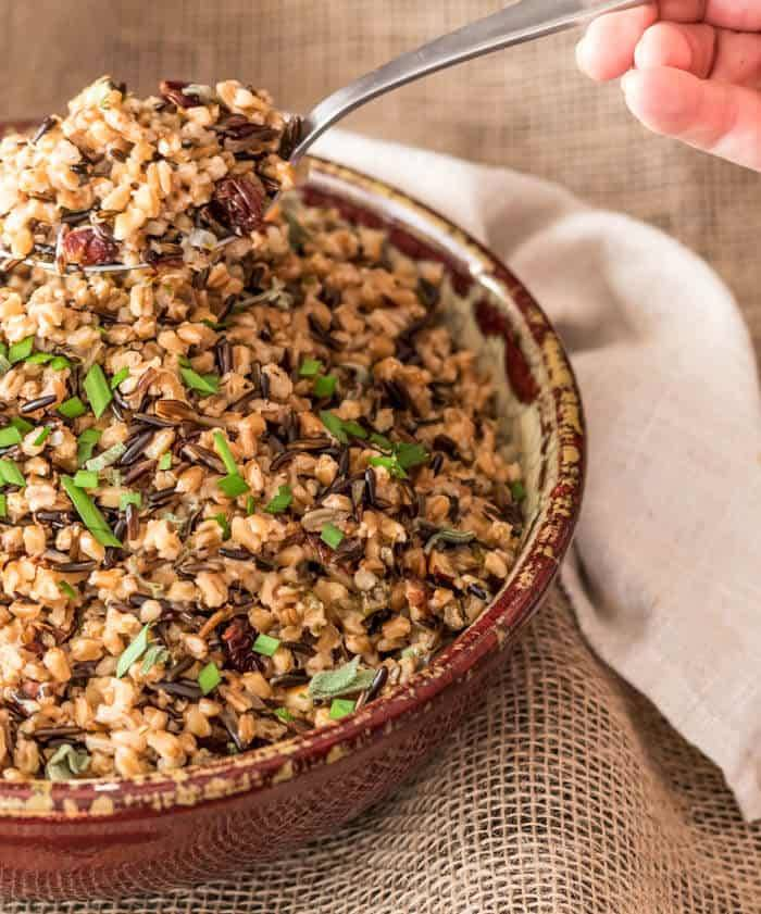 Wild Rice and Farro Pilaf