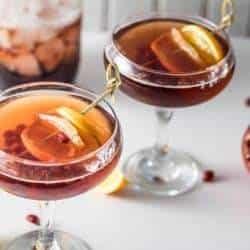 Donner and Blitzen: A Ginger Brandy Cocktail