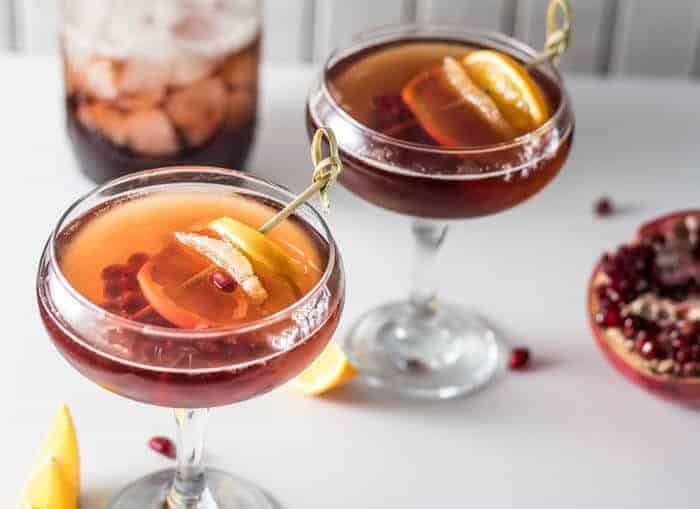 Donner and Blitzen: A Ginger Brandy Cocktail • Beyond Mere