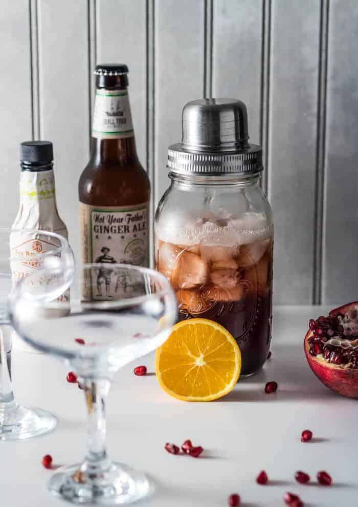 Donner and Blitzen: A Ginger Brandy Cocktail