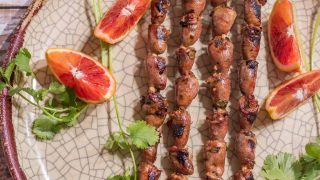 Mexican Grilled Chicken Hearts With Citrus Marinade
