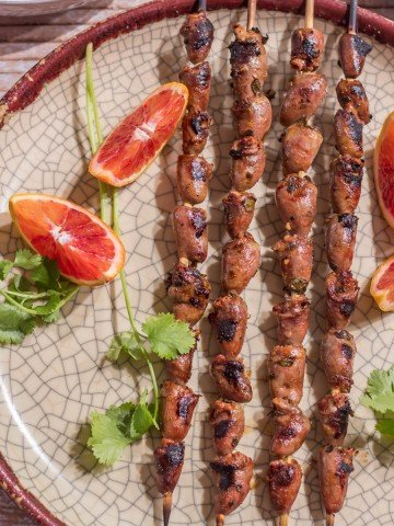 Mexican Grilled Chicken Hearts