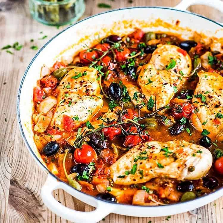low calorie chicken alla puttanesca