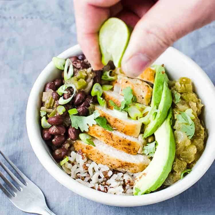 spicy mexican style protein bowl
