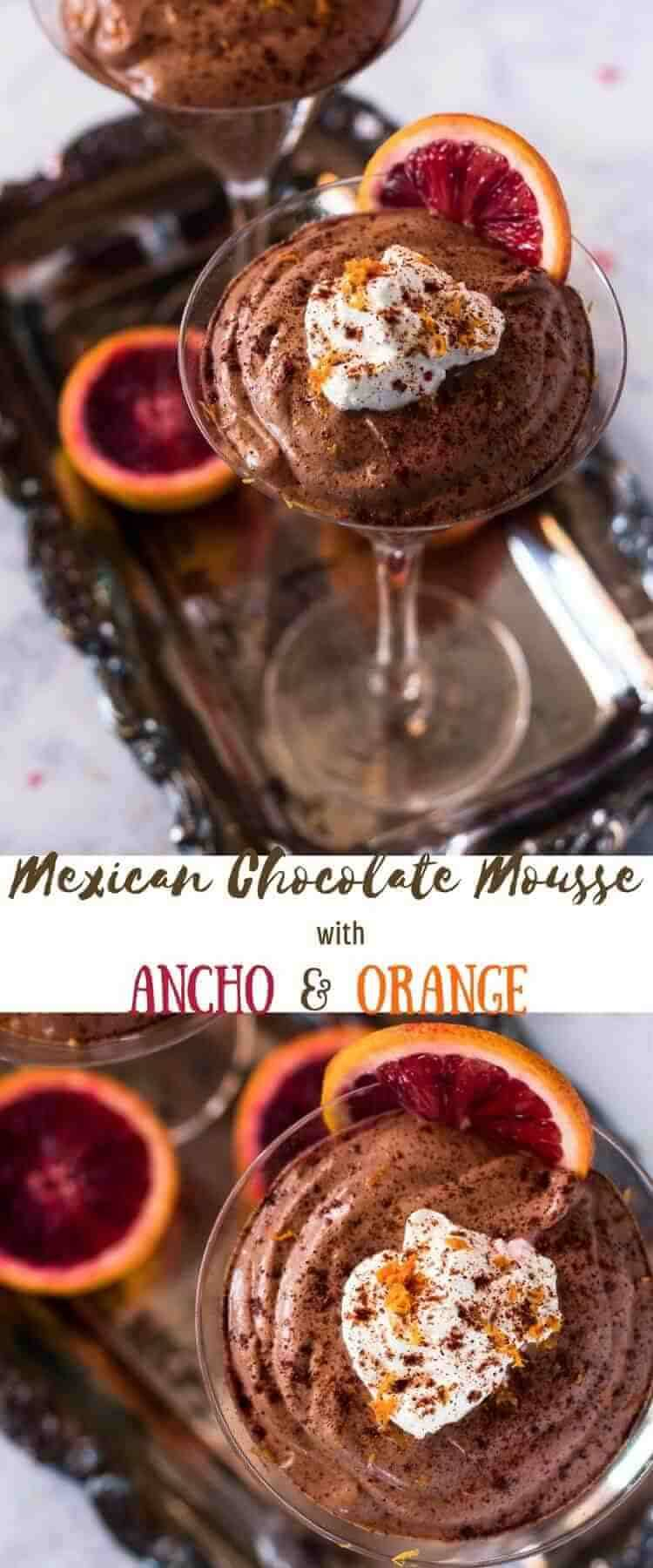 Mexican Chocolate Mousse - Mexican Chocolate Mousse With Ancho and Orange combines the luscious flavor of Mexican chocolate with Triple Sec and a hint of ancho chile powder in a fluffy, creamy mousse! A sweet treat that's hard to beat, and not a lot of effort... Mexican chocolate   mousse recipes   easy dessert recipes