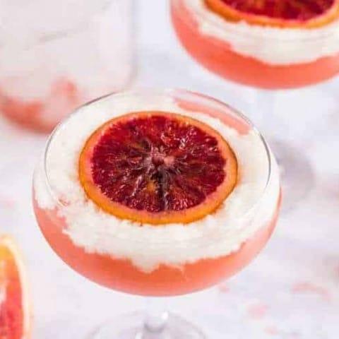 A Blood Orange Pisco Cocktail