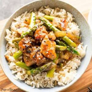 Ginger Chicken Asparagus Stir Fry