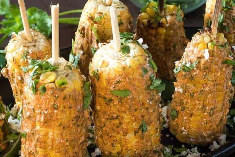Grilled Mexican Street Corn (Elote)