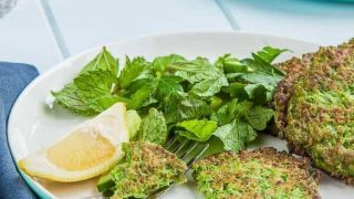 Pea and Mint Pancakes {gluten free}