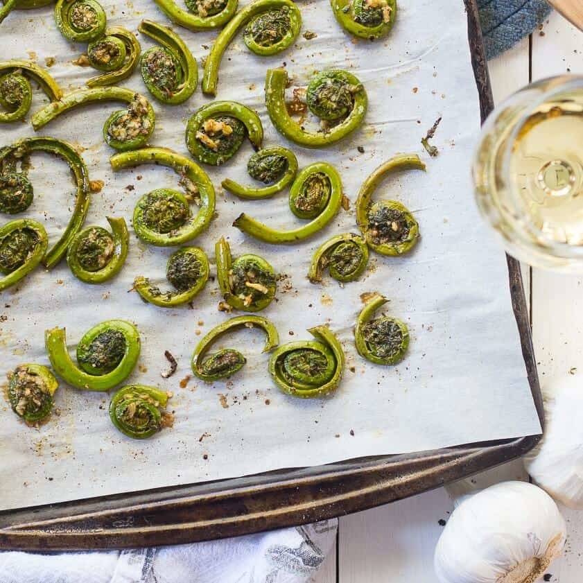 Peppery Balsamic and Garlic Fiddleheads
