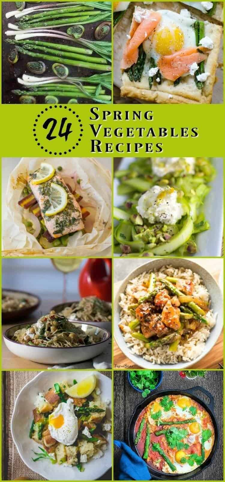 24 Spring Vegetables Recipes - Seasonal spring vegetables recipes - mains and sides - to liven up your spring meal planning! spring vegetables recipes | spring recipes | Healthy recipes