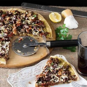 Greek Lamb Pizza