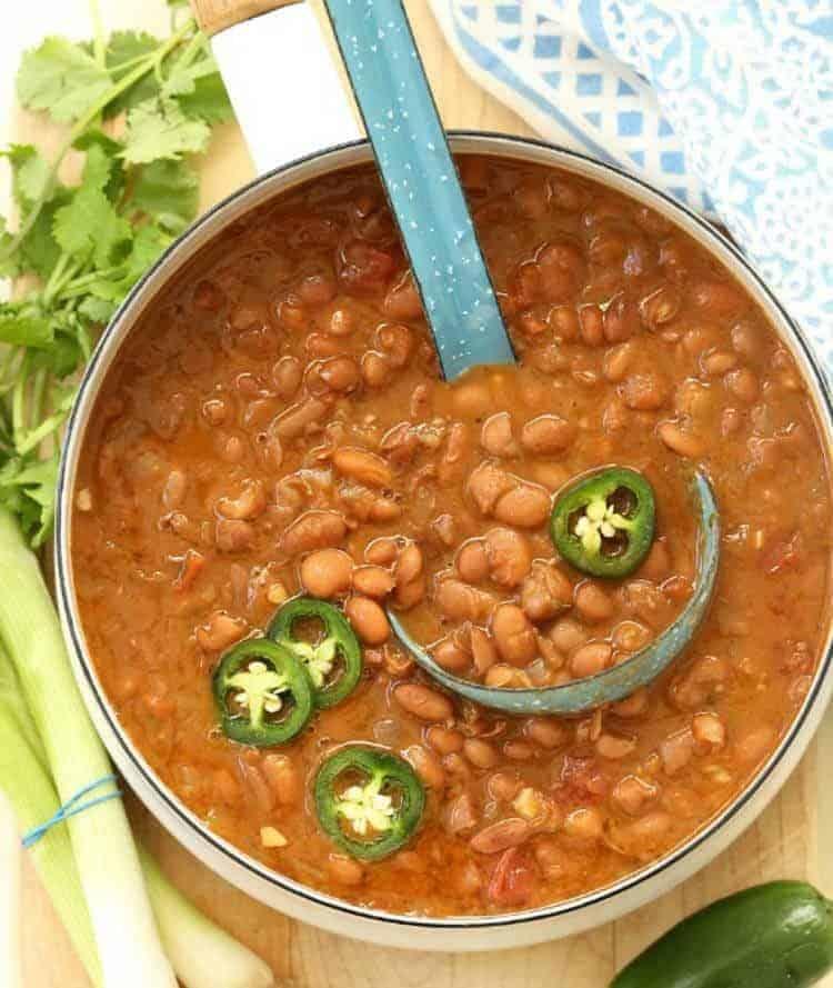 Vegetarian Borracho Beans