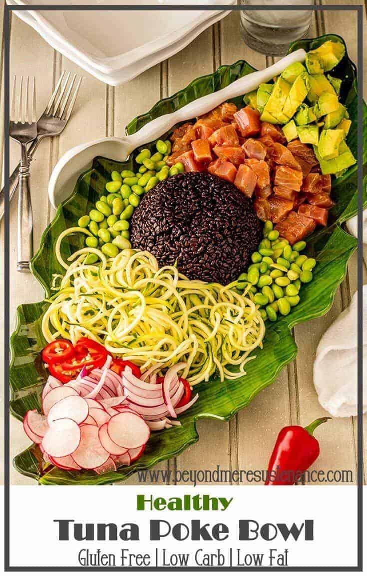 Healthy Tuna Poke Bowl -