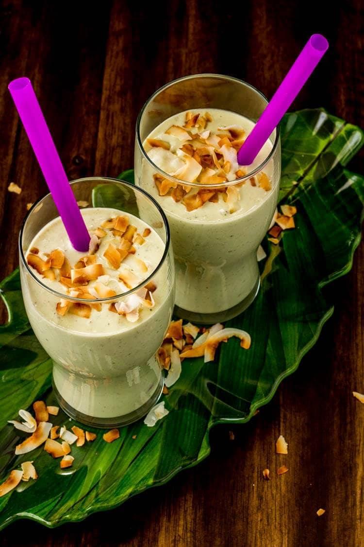 Creamy Coconut, Avocado, and Hemp Smoothie hero shot