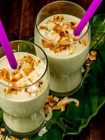 Creamy Coconut, Avocado, and Hemp Smoothie square