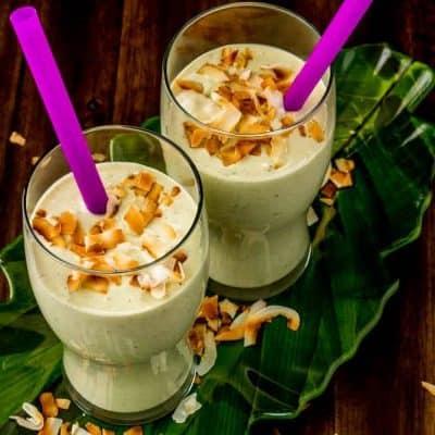 Creamy Coconut Avocado and Hemp Smoothie