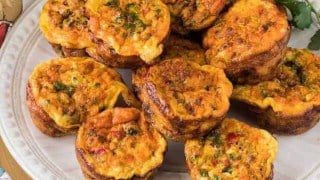 Mexican Mini-Frittatas with Chorizo and Cotija