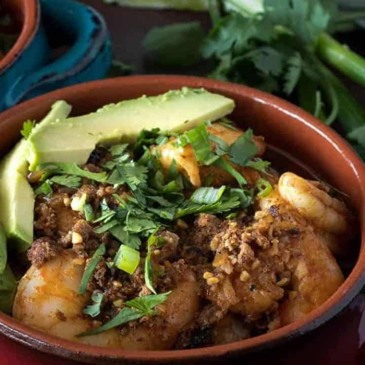 Healthy Mexican Shrimp and Grits square