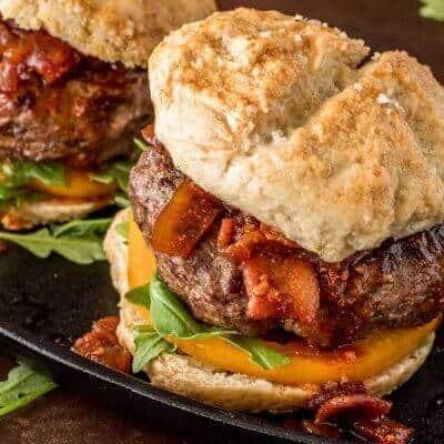 Umami Mushroom Burger with Bacon Jam