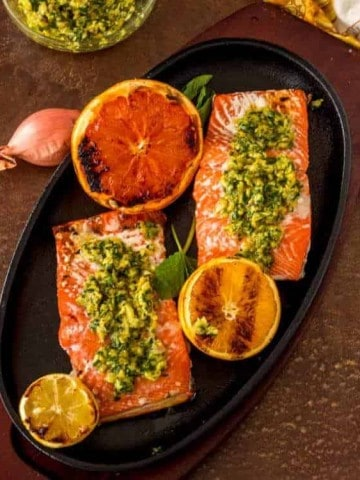 Citrus Gremolata with Grilled Salmon feature