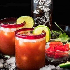 Salsa Sunset: A Savory Margarita feature