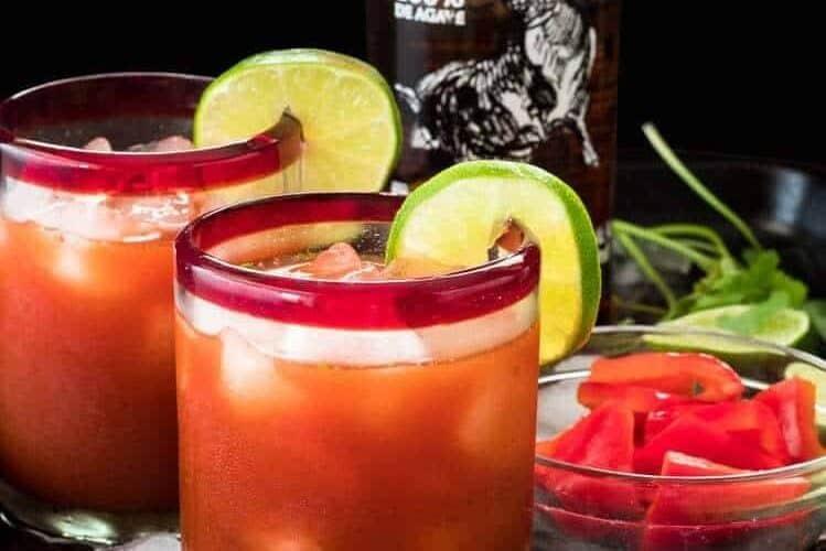 Salsa Sunset: A Savory Margarita