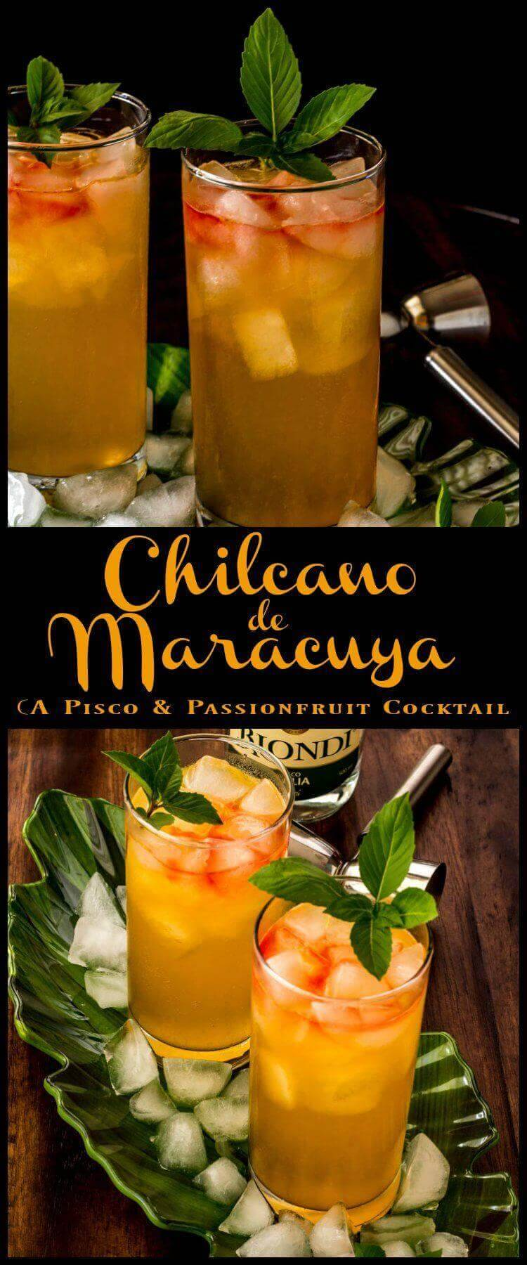 Chilcano de Maracuya - Cool, light, and refreshing... Chilcano de Maracuya features Peru's beloved pisco, fragrant maracuya (aka passionfruit or passion fruit), ginger ale, and a few drops of bitters. This one is perfect on a hot summer's day! pisco | cocktails | chilcano | summer cocktails