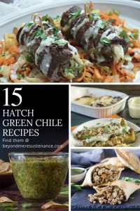 15 Ridiculously Tempting and Healthy Hatch Green Chile Recipes - Inspiration for Hatch green chile lovers looking for new inspiration... Hatch green chile | green chile recipes | Healthy green chile recipes from breakfast to dinner even ice cubes!