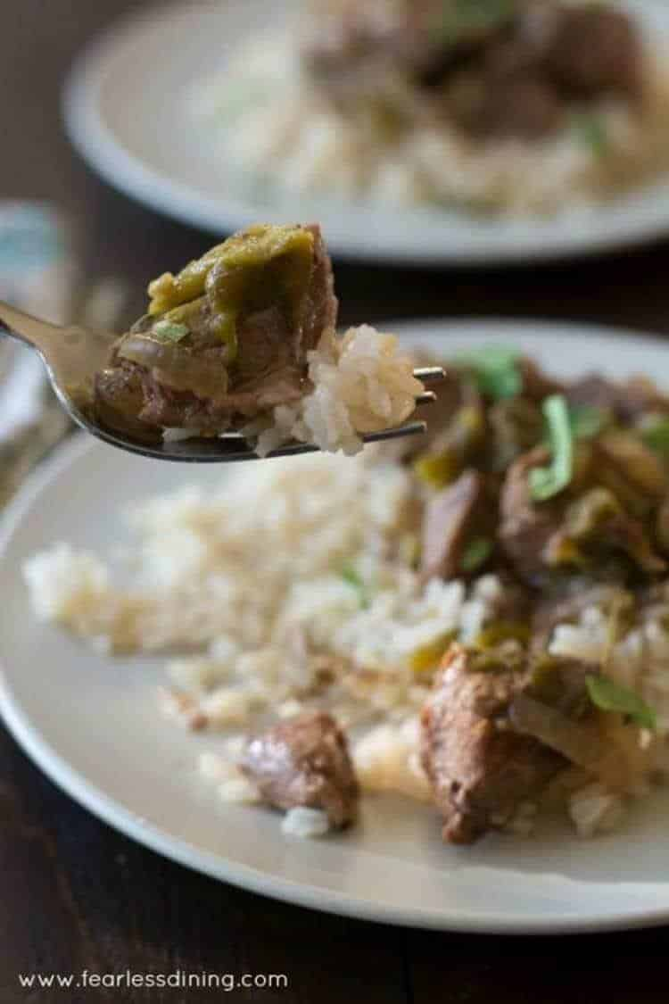 Lamb Stew with Hatch Chile Peppers