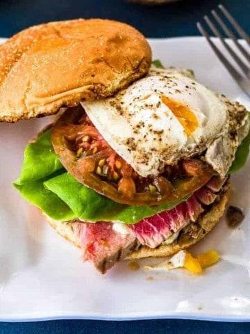 Tuna Nicoise Sandwich Close up